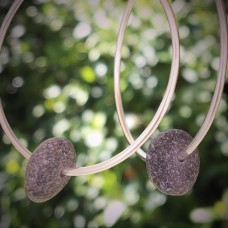 Large Pebble Hoops