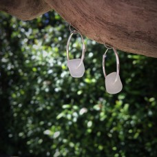 Little Seaglass Hoops