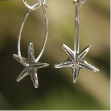 Flat Starfish Hoops