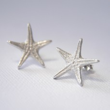 Flat Starfish Stud Earrings - Large