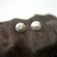 Umbonium Shell Studs in Silver