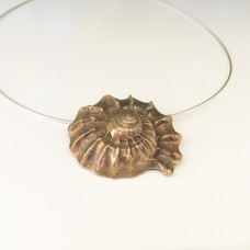 Large Bronze Shell on Snake Chain