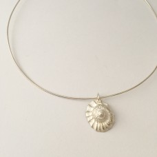 Large Silver Shell on Snake Chain