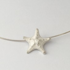 Large Silver Starfish on Neck Ring