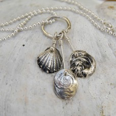 Shell Cascade Necklace with Ball Chain