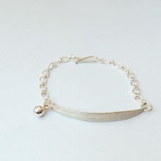 Silver Peppermint Leaf Bracelet With Bell