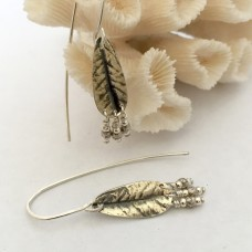 Silver Desert Rose Earrings