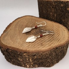 Oregano Leaf Dangles with Red Jasper