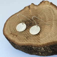 Pressed Sterling Silver Leaf Earrings