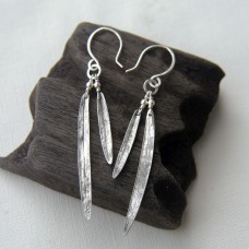 Bottle Brush Leaf Earrings - Long