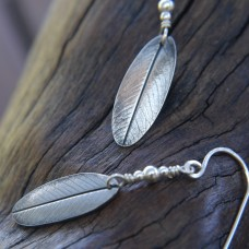 Silver Leaf Earrings - Small