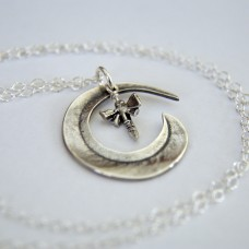 Dragonfly and Gum Leaf Necklace