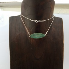 Green Bronze Leaf Necklace