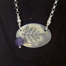 Jacaranda with Blossom Necklace