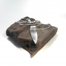 Fine Silver Leaf Pendant Necklace 2