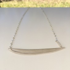 Simple Silver Gum Leaf Necklace